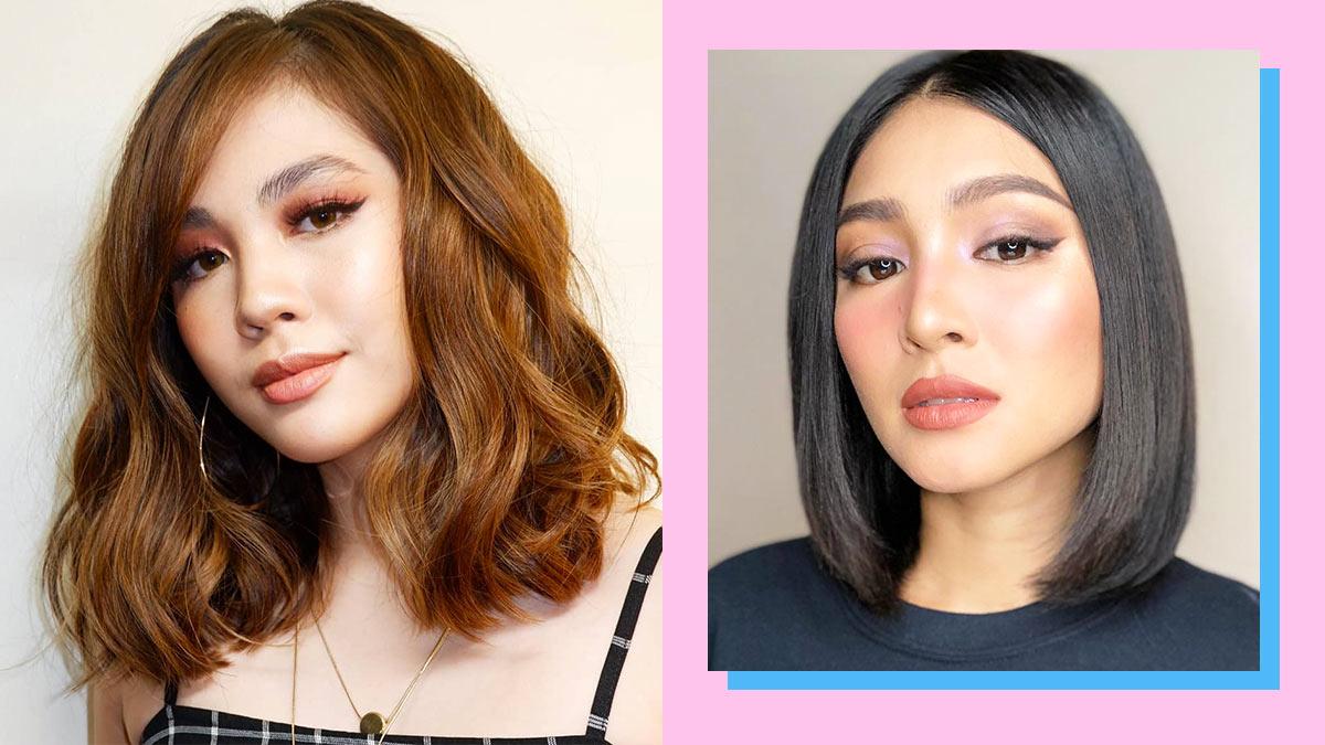 Lob Hairstyles Pinay Celebrities Cosmoph