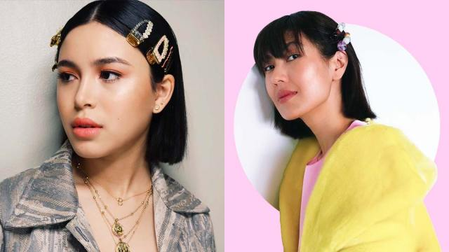 hair clip and barrette hairstyle inspo filipino celebrities