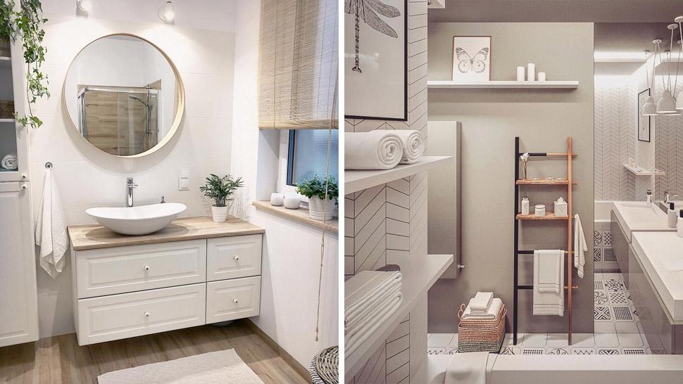 Scandinavian-Inspired Bathroom Makeover