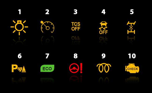 Town And Country Toyota >> lexus dash warning lights | Adiklight.co