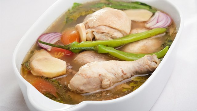 The chicken version of the sinigang is also called sinampalukan.