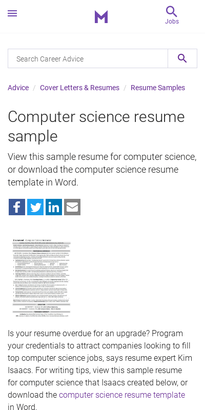 It's easy to back up your computer to ensure that you ha. Computer Science Resume Undergraduate 20 Guides Examples