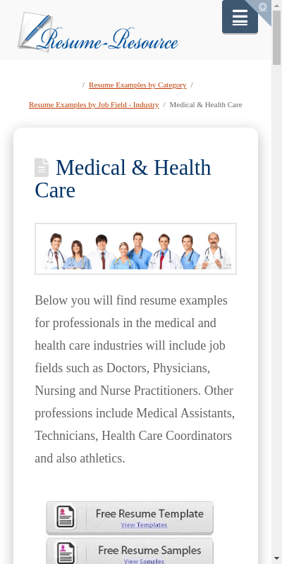 As a general rule, you should use the same font and font size that you use in your cover letter. Medical Resume Templates 20 Guides Examples