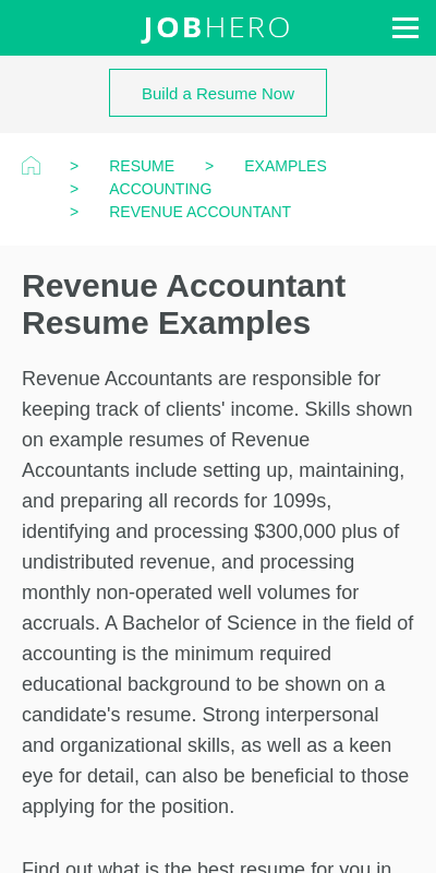 Review daily, weekly, and monthly key metrics to identify trends or areas of focus. Revenue Accountant Resume 20 Guides Examples