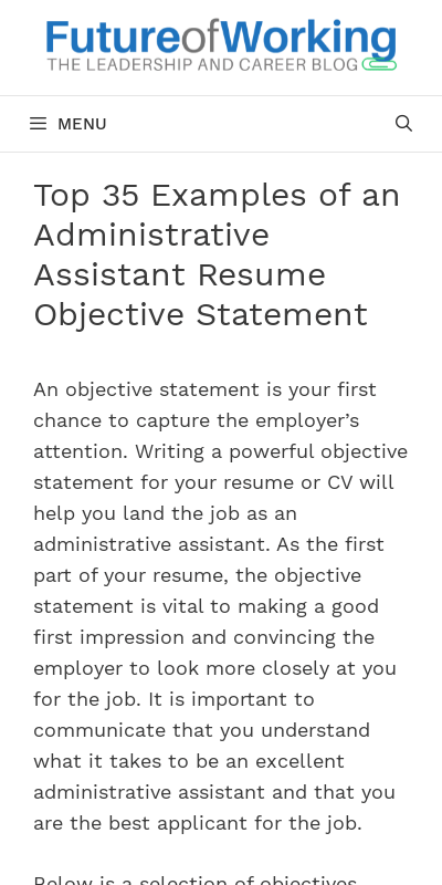 Writing objectives for resumes can be difficult. Objective For Administrative Assistant 20 Guides Examples