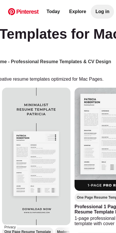 Even though more creative professionals, such as graphic designers, use macs there has always been. Resume Template For Mac Pages 20 Guides Examples
