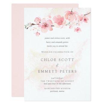 Cherry Blossom Wedding Invitations Swan S