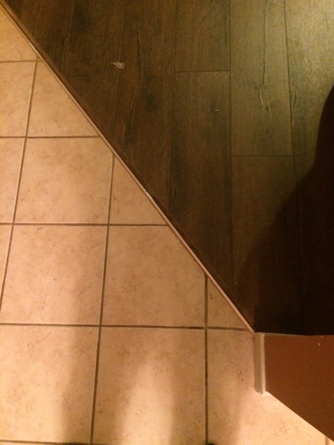 how to remove tile transition piece