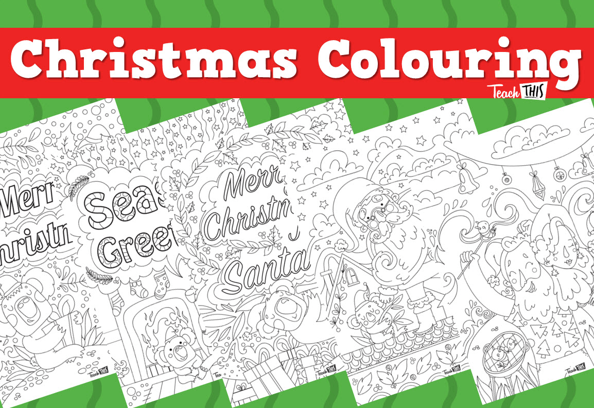 Christmas Colouring Pages Teacher Resources And