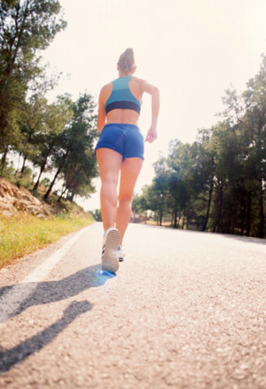 Run outdoors to conserve energy and to enjoy the spring weather