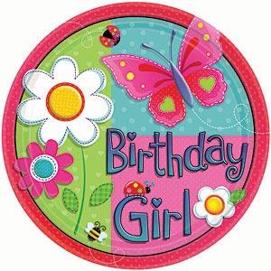 Garden Girl Plate
