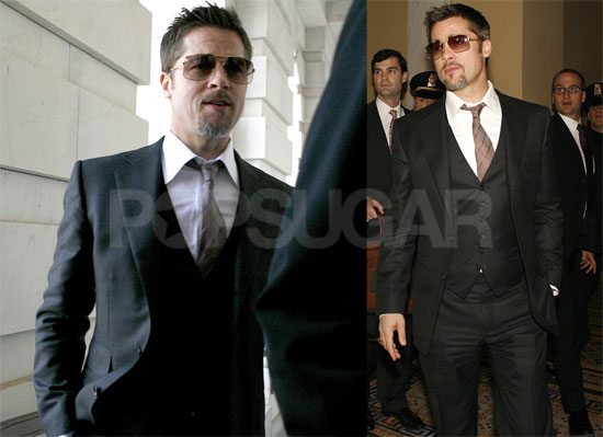 Brad Pitt Makes It a Three-Piece Suit Day on the Hill