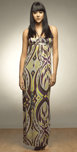 This maxi dress is cute and not nightgownish. It looks nothing like mine.