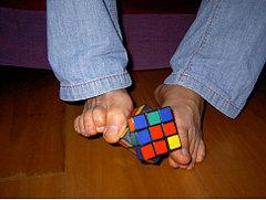 Rubiks cube with feet