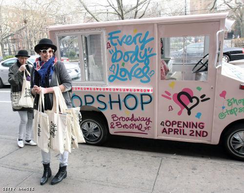 topshop van goodie bags new york
