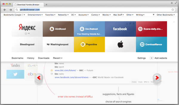 Review: Yandex 1.5 browser offers a lot of Cyrillic, but ...