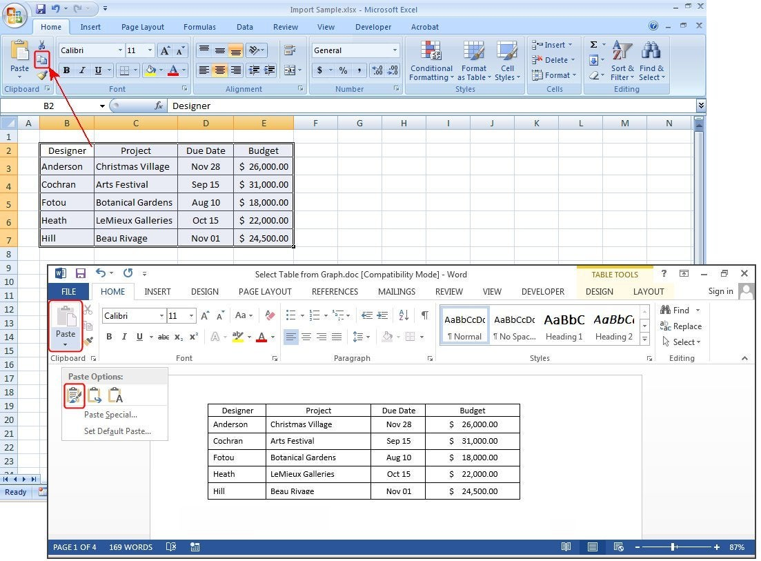Infotech How To Create And Customize Tables In Microsoft Word