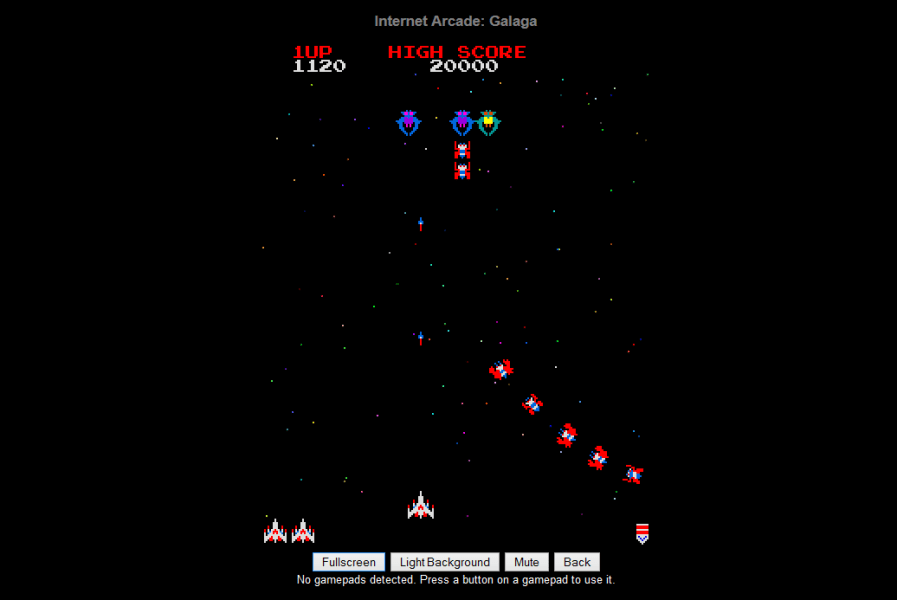 Internet Archive brings 900 classic arcade games to your browser     The Internet Arcade makes it easy to run classic arcade games  Pictured   Galaga  right in your browser