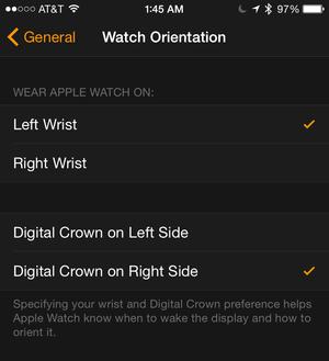 watch iphone orientation