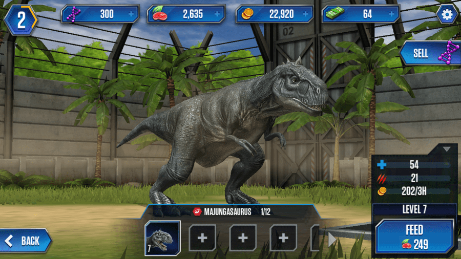 Freemium Field Test  Jurassic World  The Game might leave your     Jurassic World actually looks quite nice  but beyond battling  all you can  really do is feed and evolve them