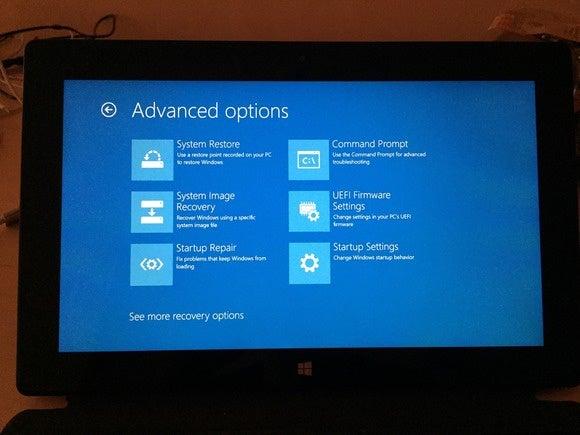 uefi firmware settings photo