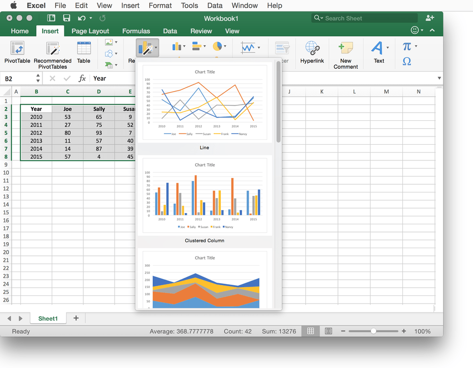 Excel For Mac Review Spreadsheet App Can Do The Job