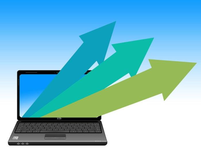 arrows laptop upward outward vectors