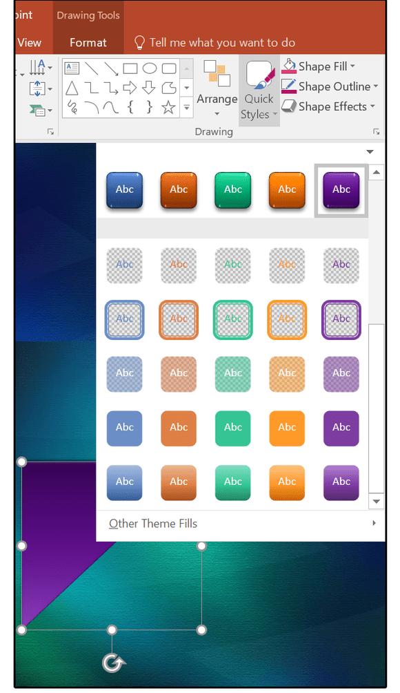 Quick Shape Formatting, new style presets - www.office.com/setup