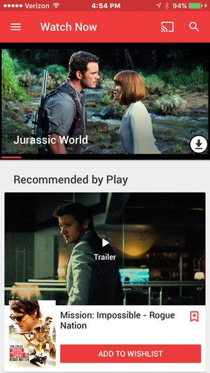 google play movies ios app