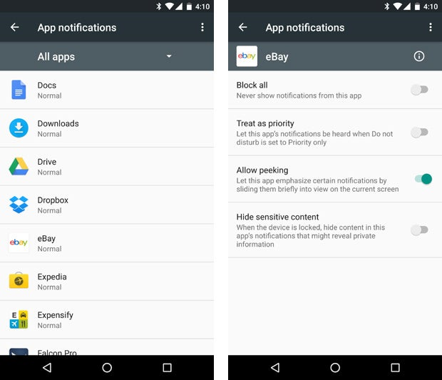 Android Marshmallow app notifications