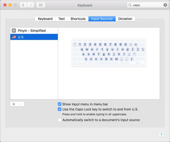 mac911 cap lock keyboard swap