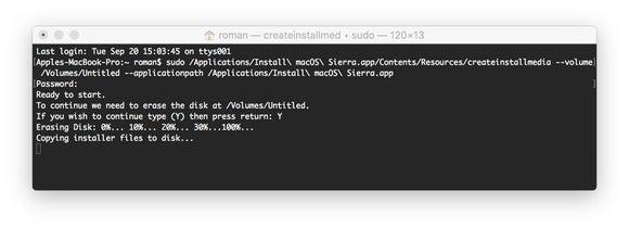 sierra install disk terminal 03