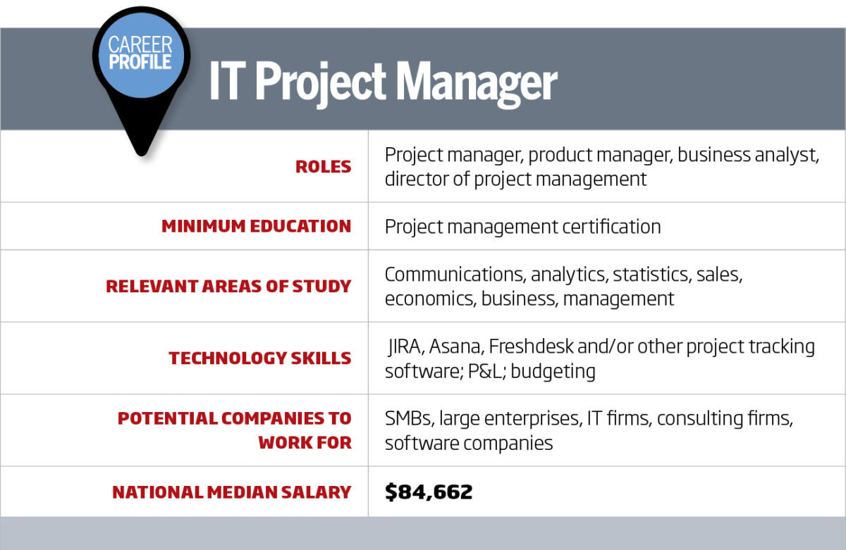 It Career Roadmap It Project Manager