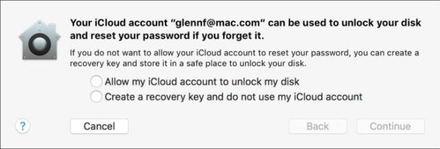 privatei enable filevault no cloud