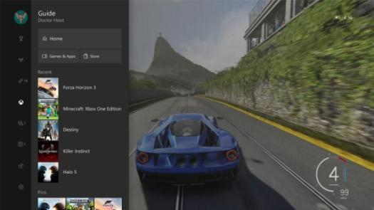 Creators Update updated guide xbox one