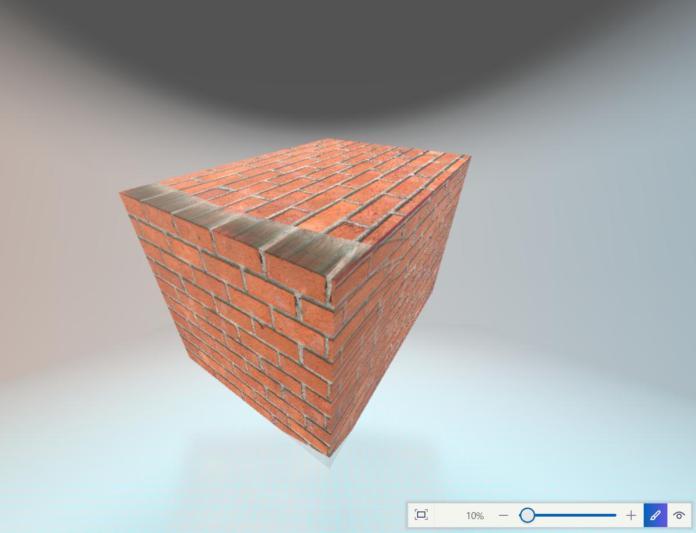 paint3d brick texture Microsoft