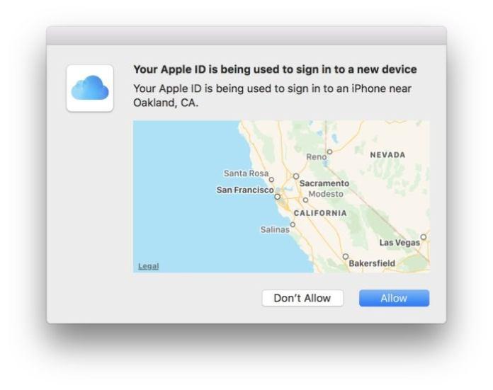 two factor mac popup