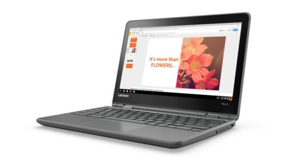 lenovo flex 11 chromebook 3qtr