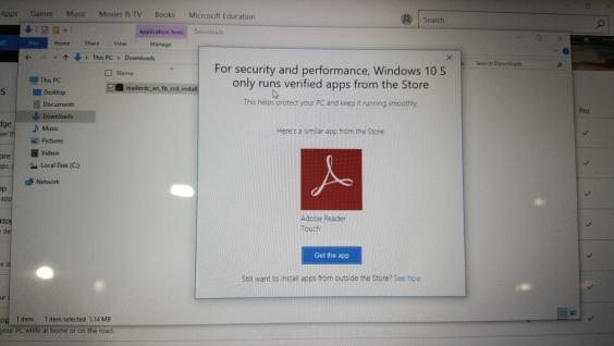 Windows 10 S app denied