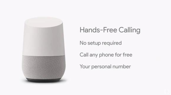 google home google io handsfree calling