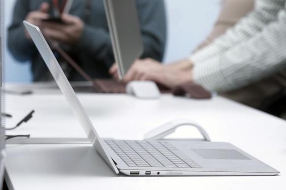 surface laptop open wide