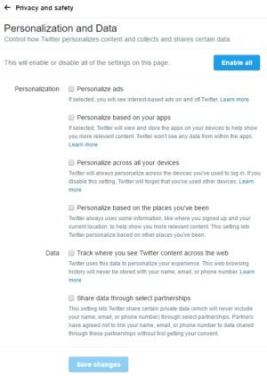 twitterpersonalizationanddata