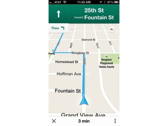 Google Maps for iOS  Mostly  Gets iPhone Users Back on Track   CIO Google Maps iOS