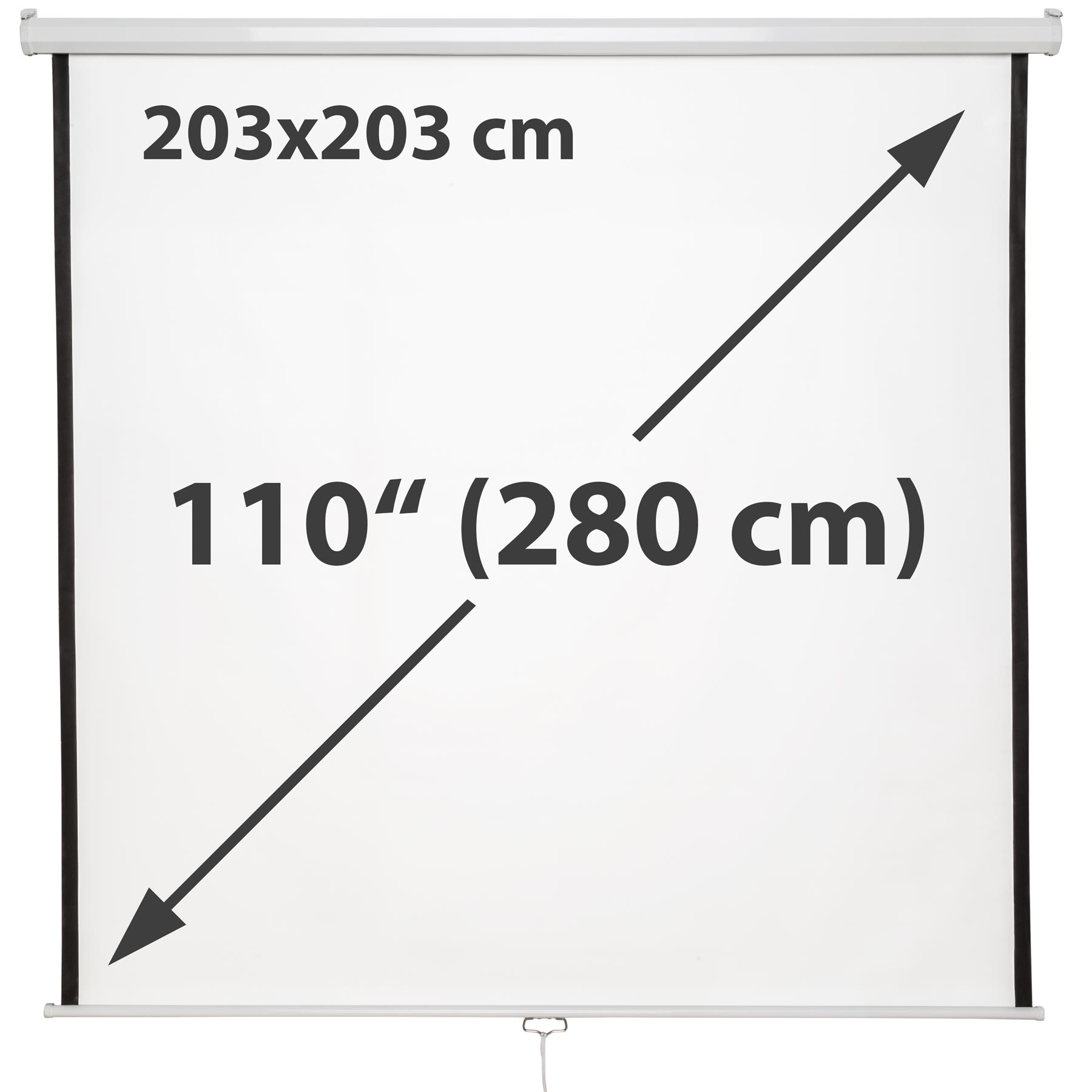 New 110 Hd Projection Screen 203x203 Home Cinema 4 3 Pull