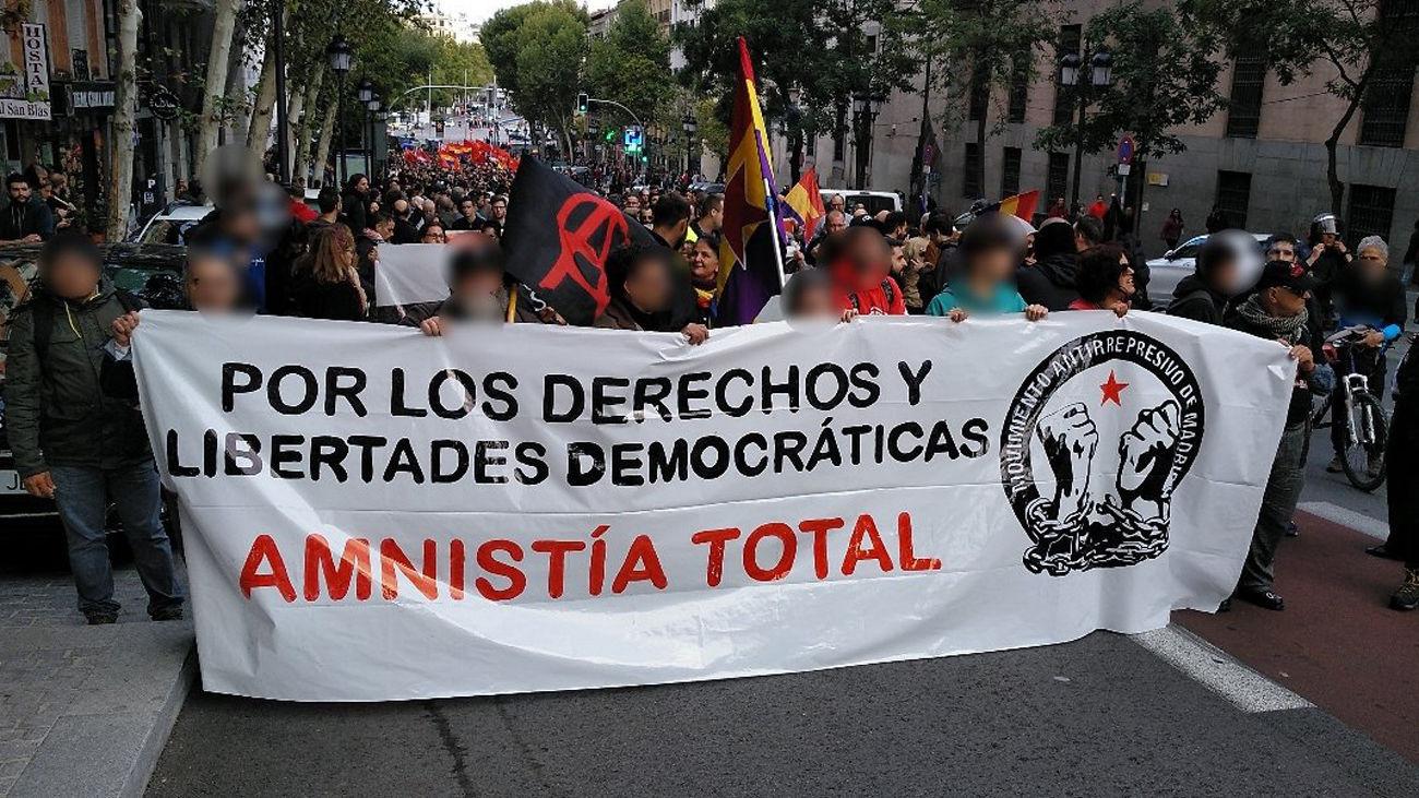 Manifestación convocada en Madrid tras la sentencia del juicio del Procés