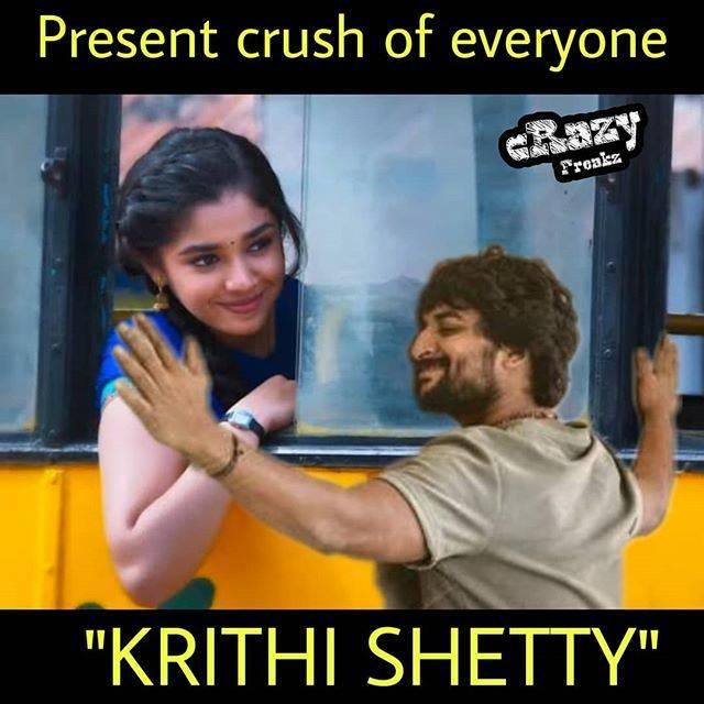 uppena heroine Krithi Shetty memes