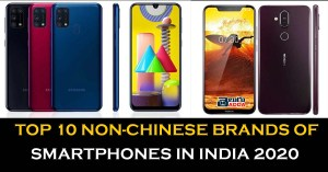 Top 10 Non Chinese Brands of Smartphones in India 2020