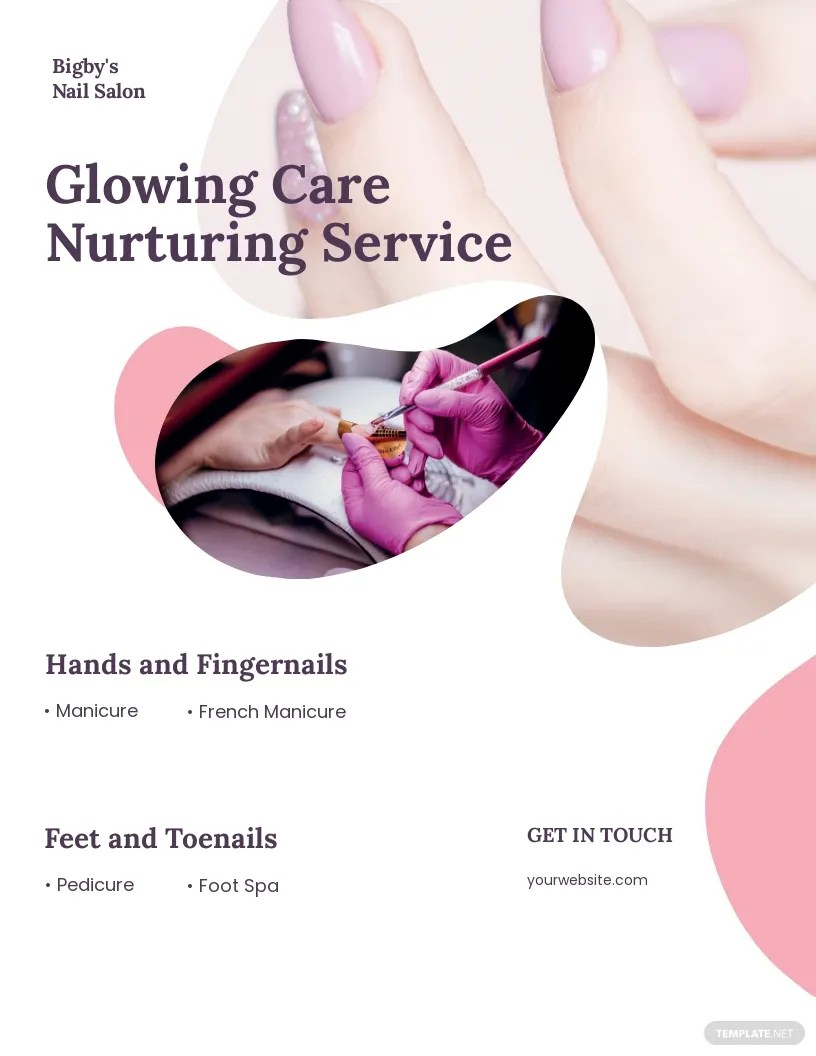 nail salon flyer template free jpg