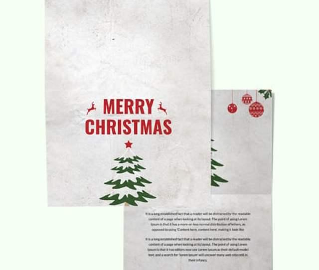 Free Modern Christmas Thank You Card Template