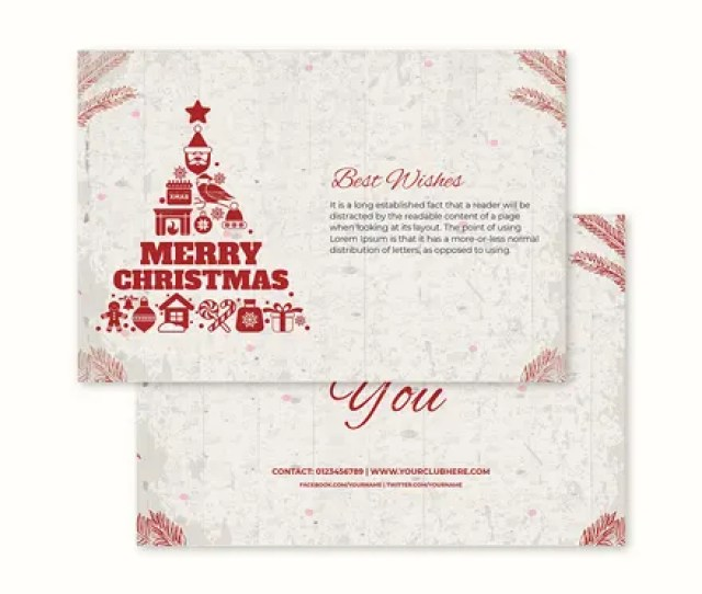 Free Childrens Christmas Thank You Card Template